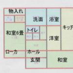 白い建物間取り図
